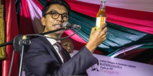 Madagascar President, Andry Rajoelina present the Covid-Organics