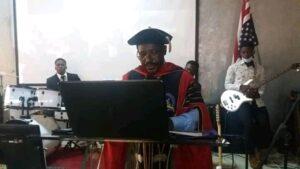 Vice Chancellor of the ICT University, Prof. Emmanuel Anyambod Anya