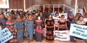 Ma Fo'o Judith Yah Sunday with her peers in Bamenda