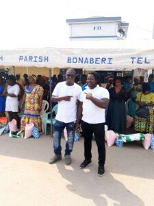 Members of the Bonaberi Diaspora Association, BDA, at the ceremonial ground