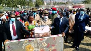 Distribution of President Paul Biya's gifts to IDPs in Bamenda