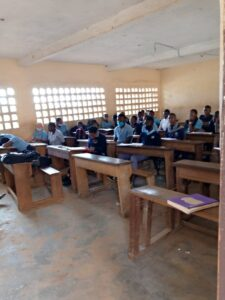 Upper Sixth students of Amasia in classroom