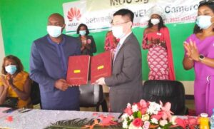 Representatives of IAI and Huawei at the signing ceremony