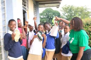 Some Young beneficiaries of the Papilio Reusable Menstrual Pads
