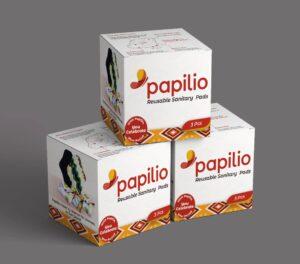 Packs of Papilio Reusable Menstrual Pads