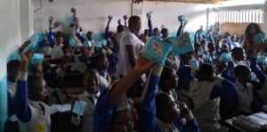 Awareness campaign at the school in Yaounde