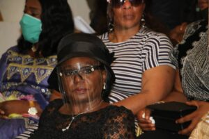 Ma Mafor' Judith Yah Sunday, GM of CAMTEL, one of wives left behind by Achidi, and Jude Achu