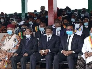 Cross section of CPDM, Govt officials at the Santa Funeral