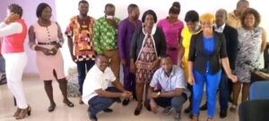 Participants at the end of an advocacy session organised by GDA