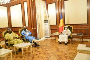 MINEPAT, Alamine Ousmane Mey en audience le 22 juillet 2021 avec le président du Conseil militaire de transition, Président de la République du Tchad, le général des corps d'armée Mahamat Idriss Deby Itno