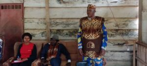 Joseph Ahanda, Chief of Ndji Village in Batchenga, addressing the challenges faced by his people