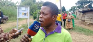 Eyebe Jean Wilfried, one of the angry fishermen recounting their ordeals to the media