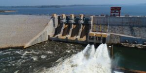 A view of the Nachtigal Dam in Cameroon